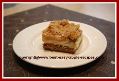 Homemade Apple Bars with Cheesecake and Apple Pie Filling