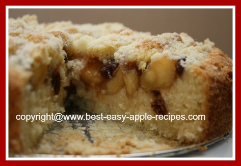 Apple Coffee Cake Using Canned Apples