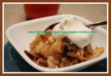 Apple pear crumble recipe with dried cranberries craisins for Apple pear recipes easy