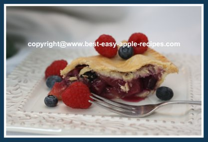 Apple Blueberry Raspberry Pie