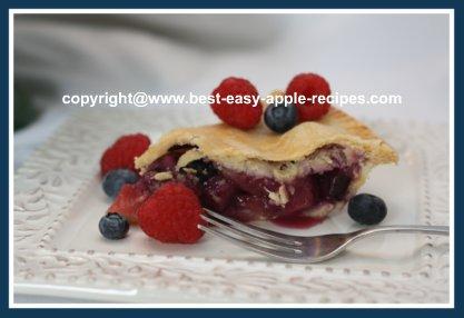Apple Blueberry Raspberry Pie