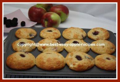 Homemade Blackberry Apple Muffins Recipe