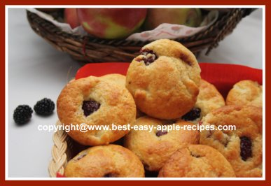 Recipe for Blackberry Apple Muffins