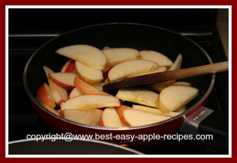 Cooking Slice Apples on Stove Top