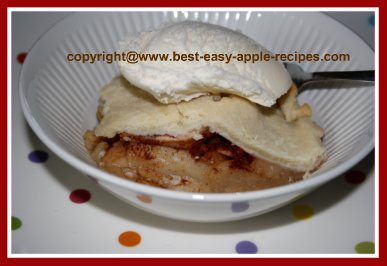 Deep Dish Apple Betty with Pastry Crust
