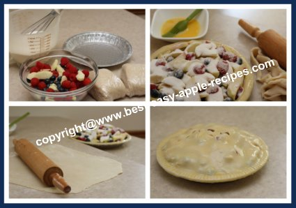 How to Make Apple Pie with Berries from Scratch