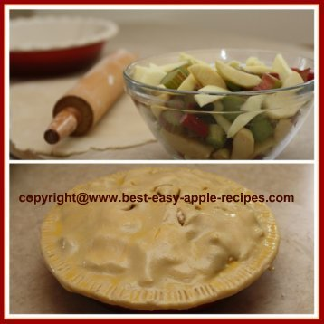 How to Make Apple Rhubarb Pie