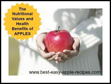 Information About Apple Nutrition and Health Benefits including Apple Nutritional Values Charts