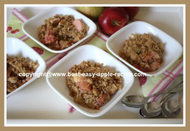 Oatmeal Crumble Topping on Fruit
