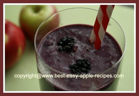 Recipe #1 - Apple Blackberry Yogurt Smoothie