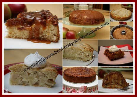 Collage Picture of Apple Cake Recipes