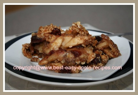 Apple Crumble Dessert Gluten Free