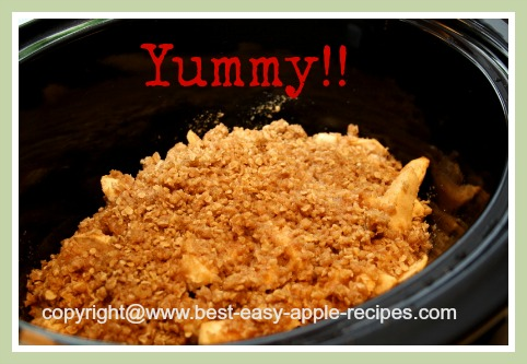 Make Apple Crumble in the Crockpot/Slow Cooker