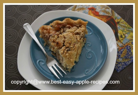 Apple Crumble Pie with Fresh Apples or Apple Pie Filling