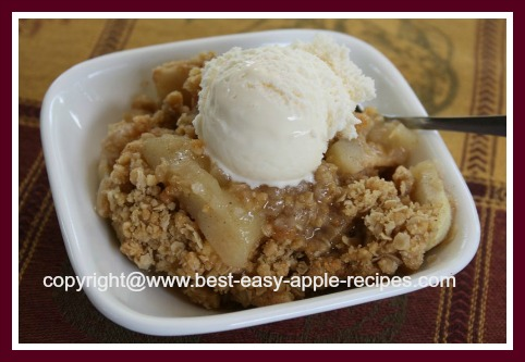 Apple Oatmeal Crisp with Ice Cream Recipe for