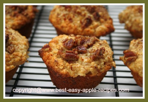 Apple Oatmeal Muffins with Honey and Nuts