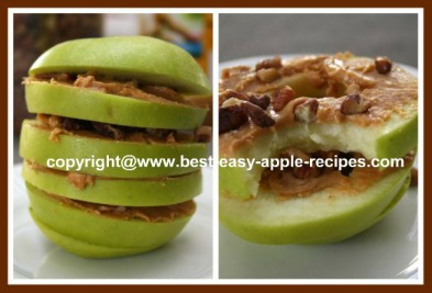 Apple Peanut Butter Snack for Kids