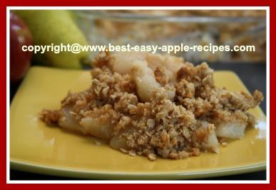 Apple Pear Crisp