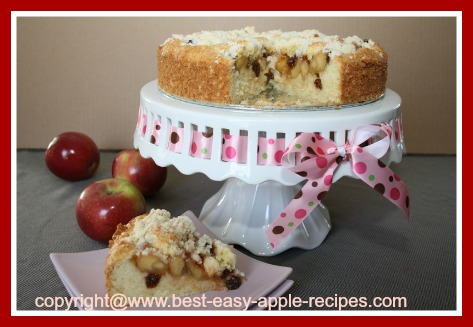 Apple Raisin Streusel Cake
