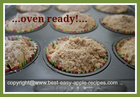 Apple Muffins with Streusel Topping Recipe