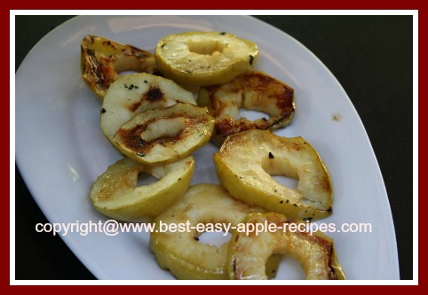 Barbeque Grilled Apple Slices for Dessert