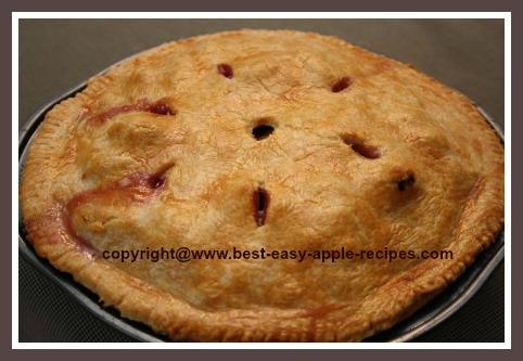 Homemade Blueberry Apple Pie Recipe