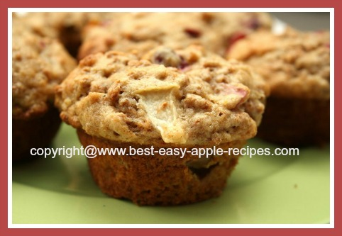 Healthy Bran Muffins with Apples and Cranberries