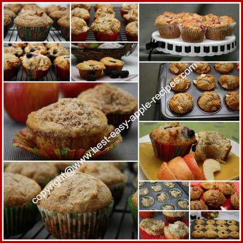 Picture Collage of Apple Muffin Recipes