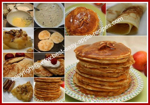 Collage Picture of the Best Easy Apple Pancakes Ever