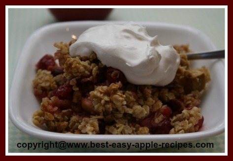 Cranberry Apple Crisp with Oatmeal Topping
