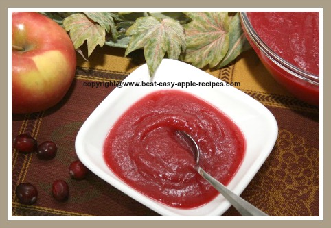 Apple Cranberry Sauce Recipe