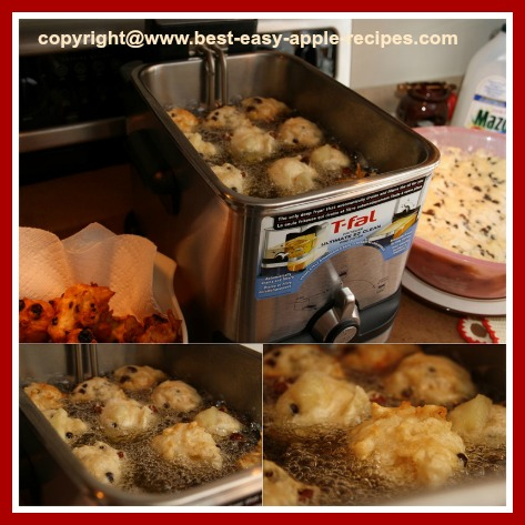 Deep Frying the Oliebollen or Apple Fritters