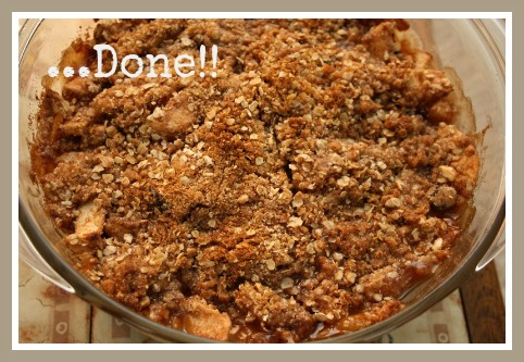 Easy Gluten Free Apple Crumble