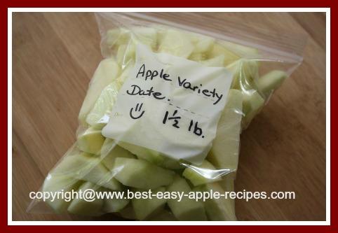 Frozen Apples How to Freeze Apples