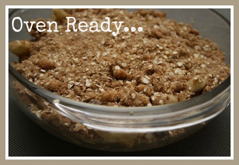 Homemade Gluten Free Apple Crumble