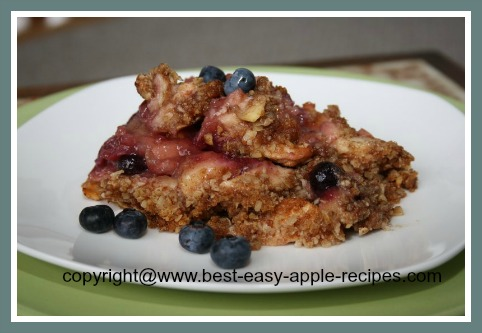 Gluten Free Apple Dessert - Apple Blueberry Crumble