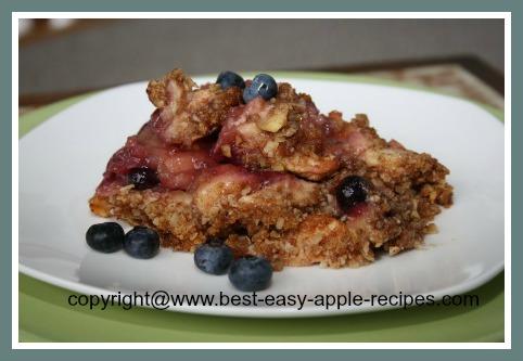 Gluten Free Apple Dessert - Apple Blueberry Crumble