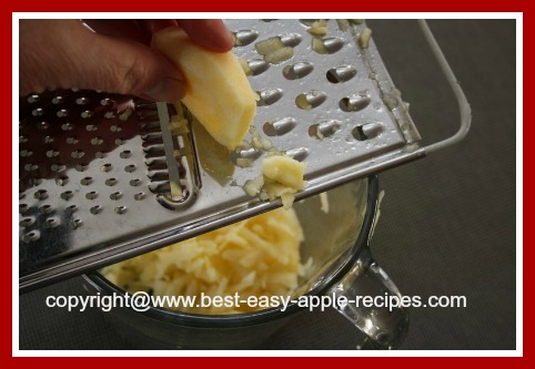 Grating Apples for Pancakes