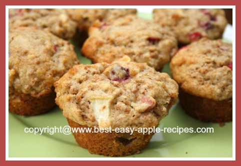 Healthy Breakfast Muffins with Bran and Fruit