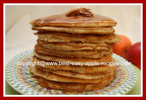 Homemade Apple Pancakes with Pecan Nuts