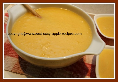 Homemade Fruit Sauce with Apples and Peaches made in Blender
