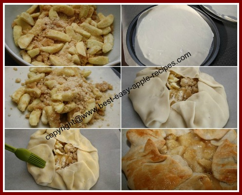 How to Make an Open Face Apple Pie / Single Crust Apple Pie