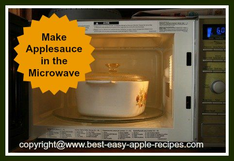Making Applesauce Using the Microwave, Recipe for