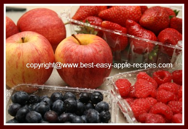 Dessert Using Apples, Blueberries, Strawberries, Raspberries