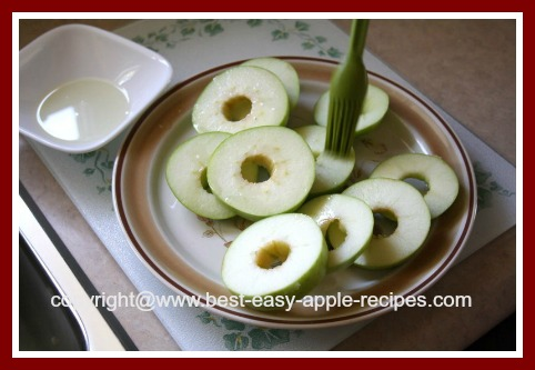 Preparing Apple Slices for the BBQ