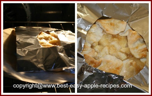 Protecting Open Face Pie Crust Edges with Foil to Prevent Getting Too Brown