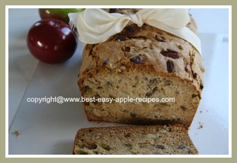 Easy Quickbread Recipe Apples and Rhubarb Loaf