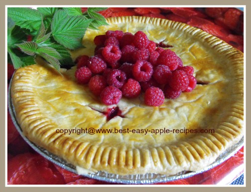 Homemade Raspberry and Apple Pie