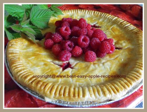 Homemade Raspberry and Apple Pie