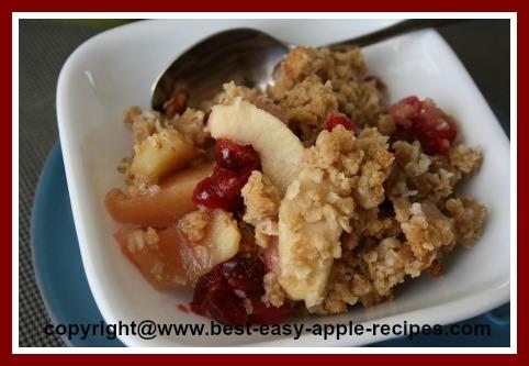 Recipe for Apple Cranberry Dessert Crisp
